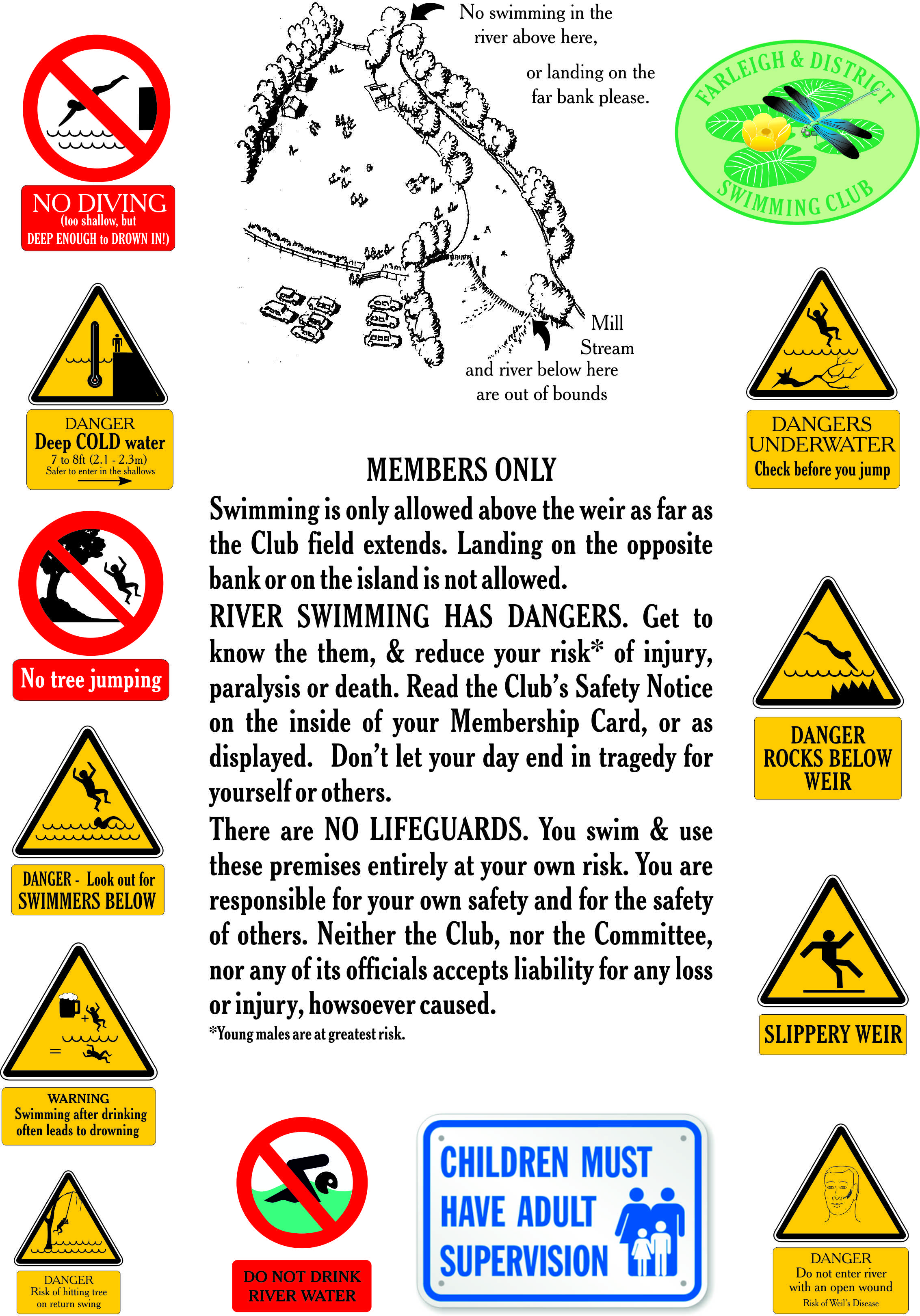 Farleigh & District Swimming Club Safety map