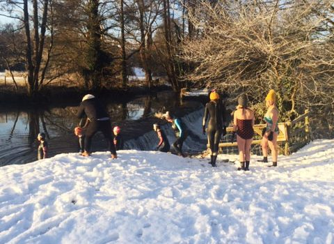 Snow at the Farleigh & District Swimming Club