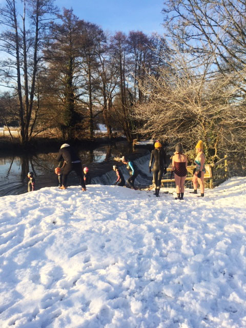 Not even a spot of snow will stop the Farleigh & District Swimming Club!